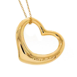 Tiffany & Co. Elsa Peretti 18kt Open Heart Pendant - Chicago Pawners & Jewelers