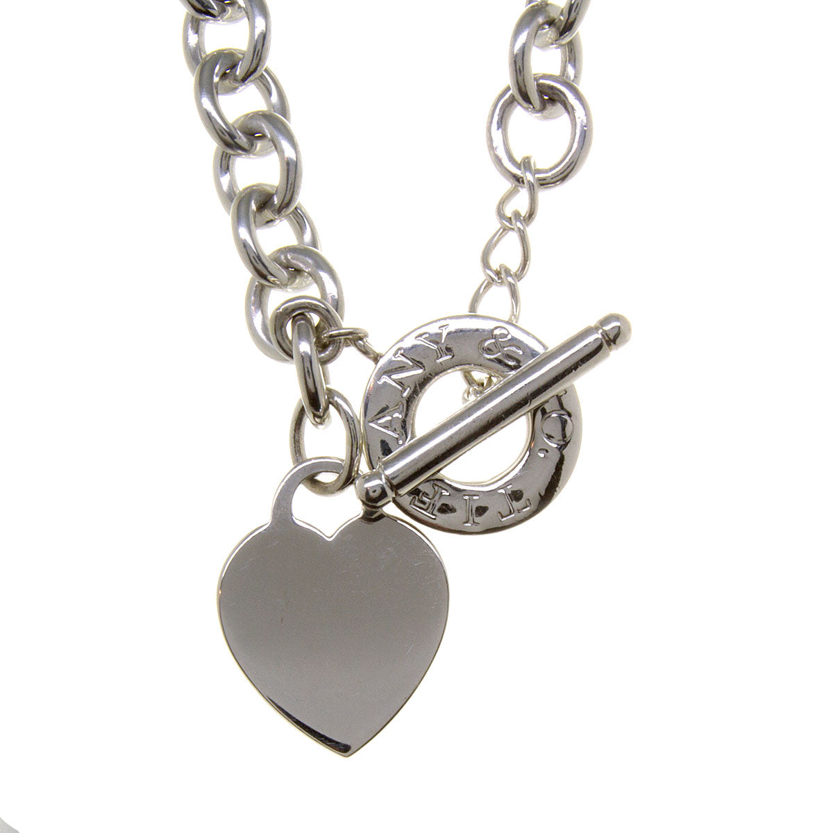 Tiffany Co Heart Charm Toggle Necklace Chicago Pawners Jewelers