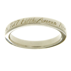 Tiffany & Co. Notes Narrow Band Ring - Chicago Pawners & Jewelers