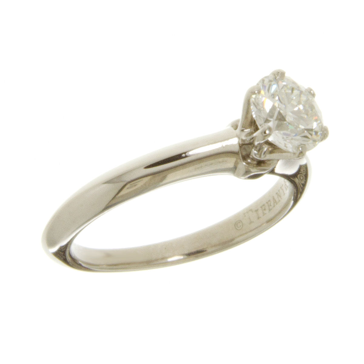 Engagement Rings Chicago: Tiffany & Co. Platinum 0.80ct Solitaire Diamond Engagement
