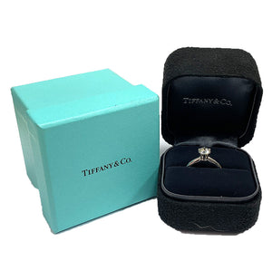 Tiffany & Co. Platinum 0.80ct Solitaire Diamond Engagement Ring - Chicago Pawners & Jewelers