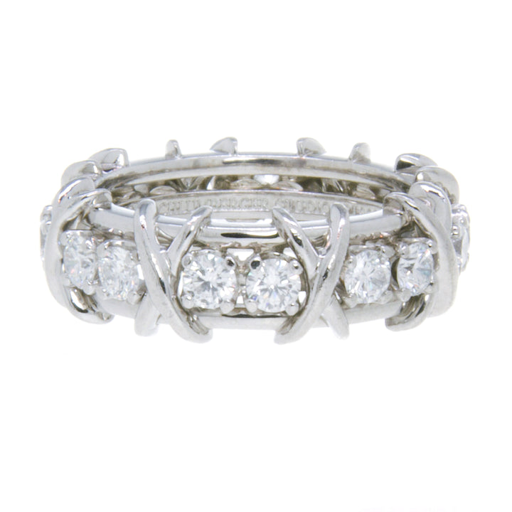 Tiffany & Co. Schlumberger Sixteen Stone Diamond Ring
