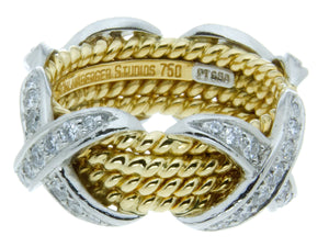 612563559c9bc Tiffany & Co. Schlumberger Rope Four-Row X Ring – Chicago Pawners ...