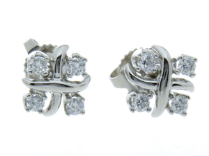 Tiffany & Co. Schlumberger Lynn Diamond Earrings - Chicago Pawners & Jewelers