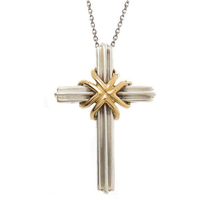 Tiffany & Co. Silver & 18kt Gold Cross - Chicago Pawners & Jewelers