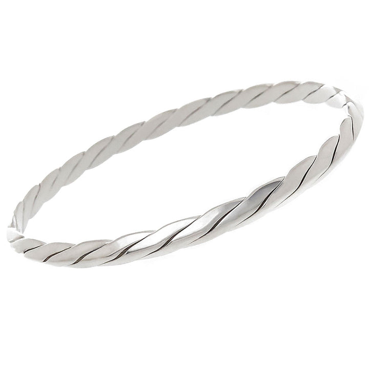 Tiffany & Co. Twisted Rope Knife Edge Bangle Bracelet