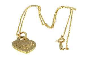Tiffany & Co. Return to Tiffany 18K Heart Tag Charm & Chain