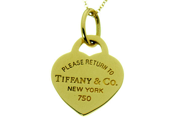 Tiffany & Co. Return to Tiffany 18K Heart Tag Charm & Chain - Chicago Pawners & Jewelers