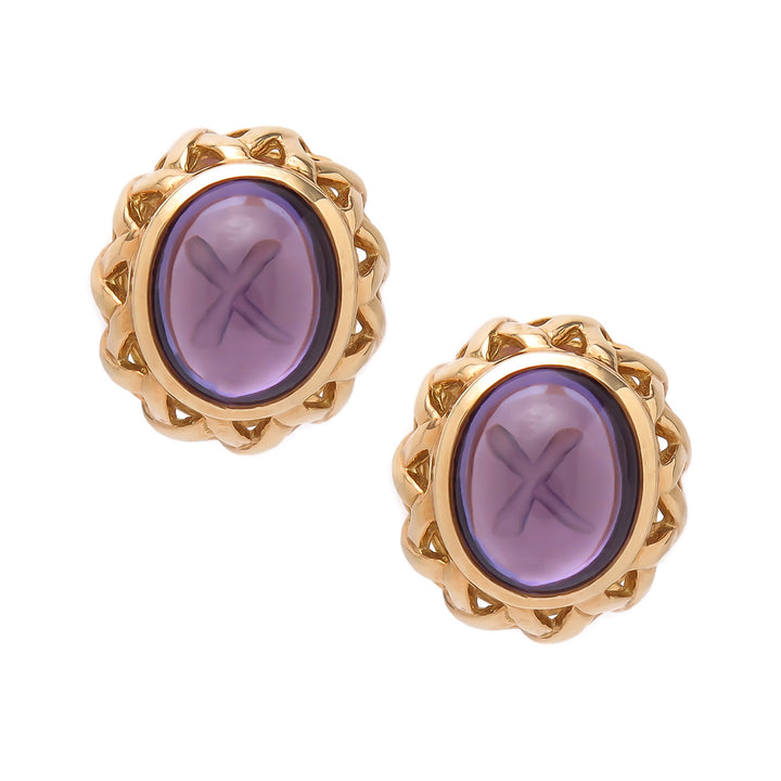 Tiffany Paloma Picasso 18kt Amethyst Earrings - Chicago Pawners & Jewelers