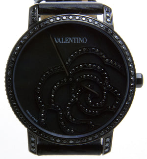 Valentino Rose Black Diamond Watch