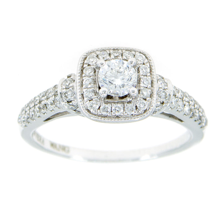 Vera Wang Love 3/4ct Diamond Frame Engagement Ring