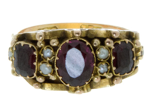 Victorian Amethyst & Pearl Ring
