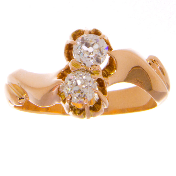 Victorian Diamond Bypass Ring - Chicago Pawners & Jewelers