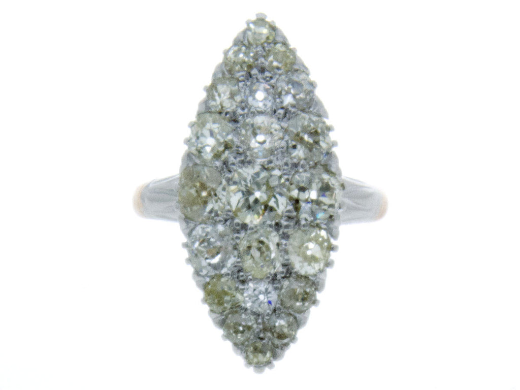 Victorian 3.00ct Diamond Navette Ring