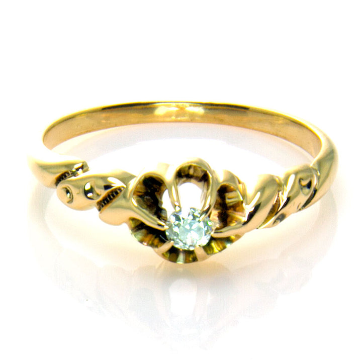 Victorian Solitaire Diamond Engagement Ring - Chicago Pawners & Jewelers