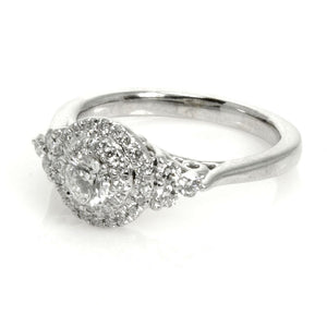 0.83ct Double Halo Diamond Engagement Ring - Chicago Pawners & Jewelers