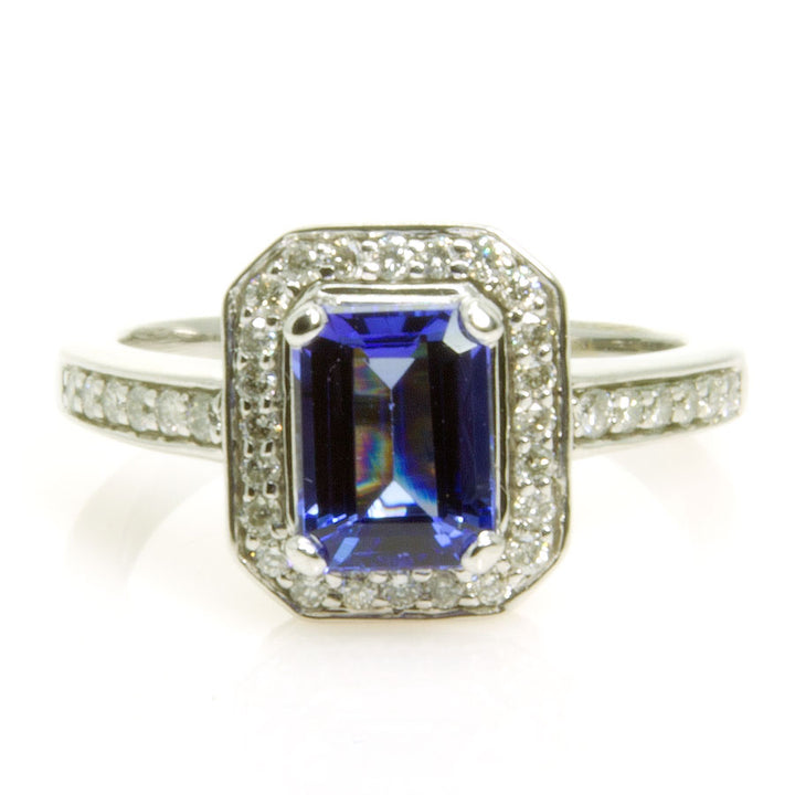 2.00ct Tanzanite & Diamond Ring