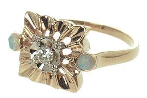 Vintage Opal & Diamond Ring - Chicago Pawners & Jewelers