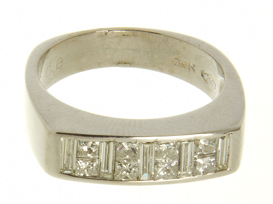 Princess & Baguette Diamond Band Ring by ZEN - Chicago Pawners & Jewelers