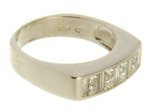 Princess & Baguette Diamond Band Ring by ZEN