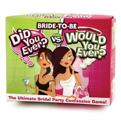 Bride to Be: Did You Ever? Would You Ever? Adult Game - Bachelorette Party Supplies