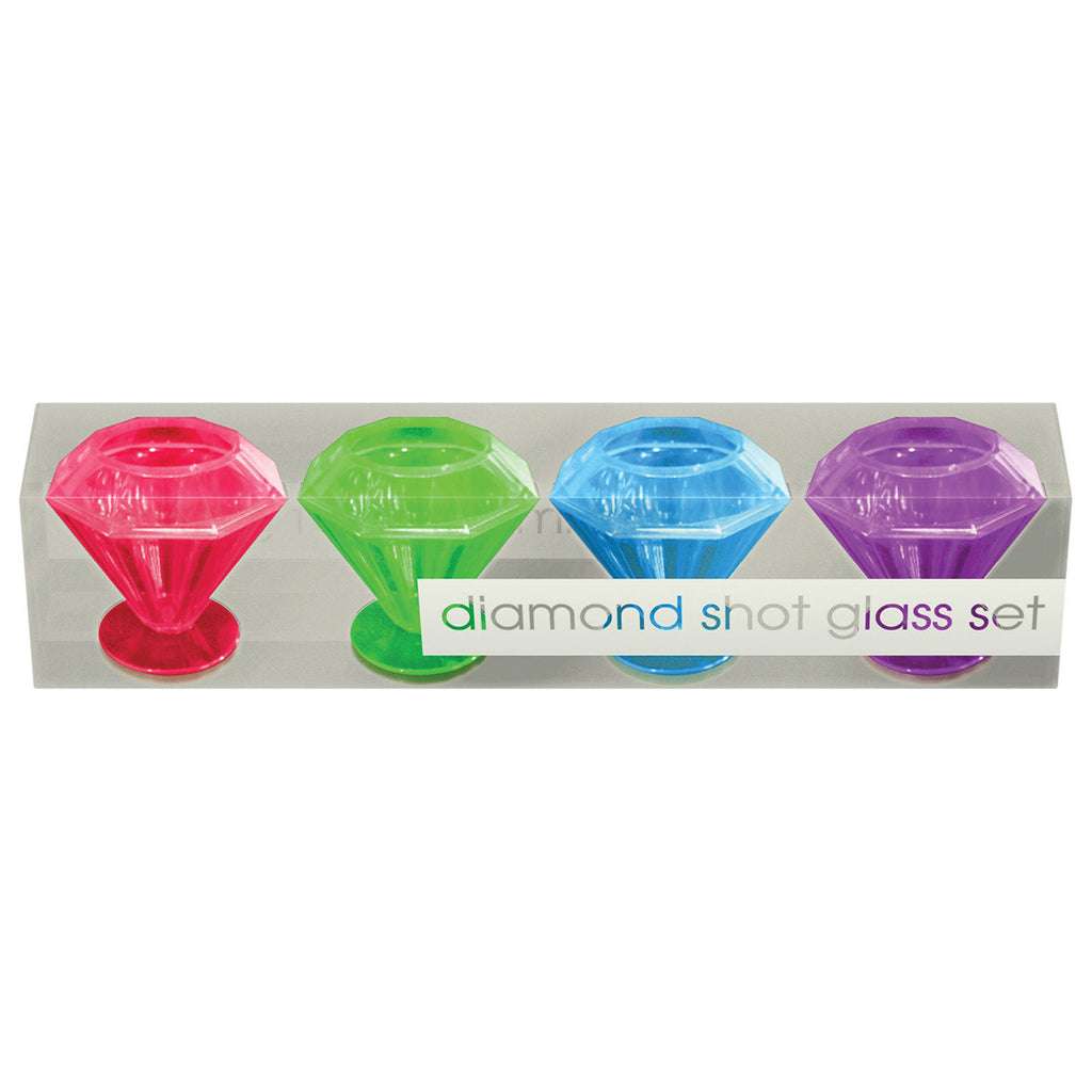 Diamond Shot Glass 4PC Set
