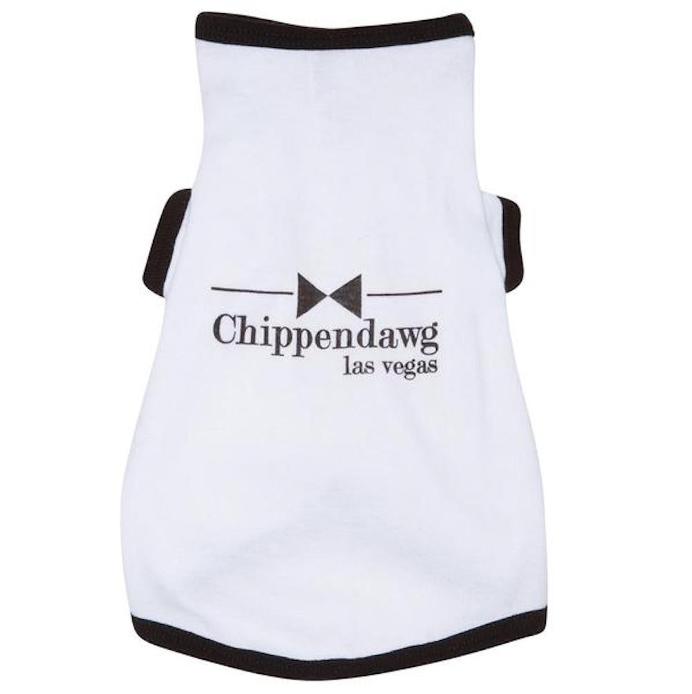Chippendawg - White Puppy Tee