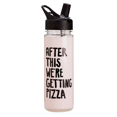 Work It Out Water Bottle - Pizza