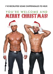 Lets be Naughty Holiday Card