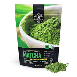 Organic Japanese Matcha Green Tea Powder - USDA Certified, Authentic Japanese Origin - Classic Culinary Grade (Smoothies, Lattes, Baking, Recipes) - Sunshine & Some Tea