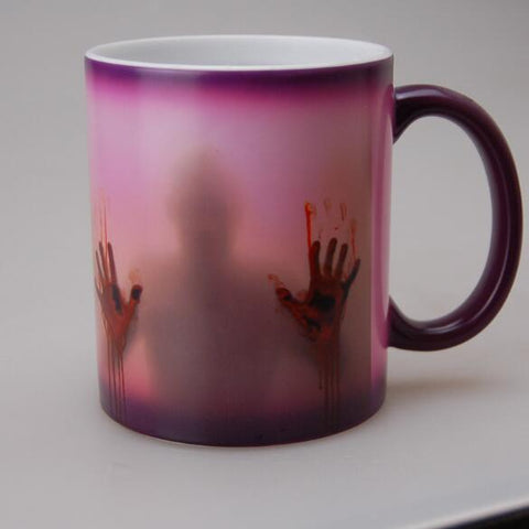 Image of The walking dead Mug color changing Heat Sensitive Ceramic - Sunshine & Some Tea