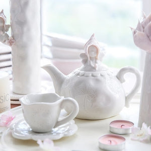 Tea Cup Ceramic Teapot Coffee Cup Set - Sunshine & Some Tea