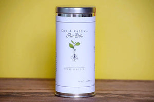 Organic Black Pu-erh Tea 3 oz Tin - Sunshine & Some Tea