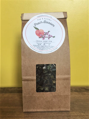 Organic Peach Blossom Tea 3 oz Bag - Sunshine & Some Tea