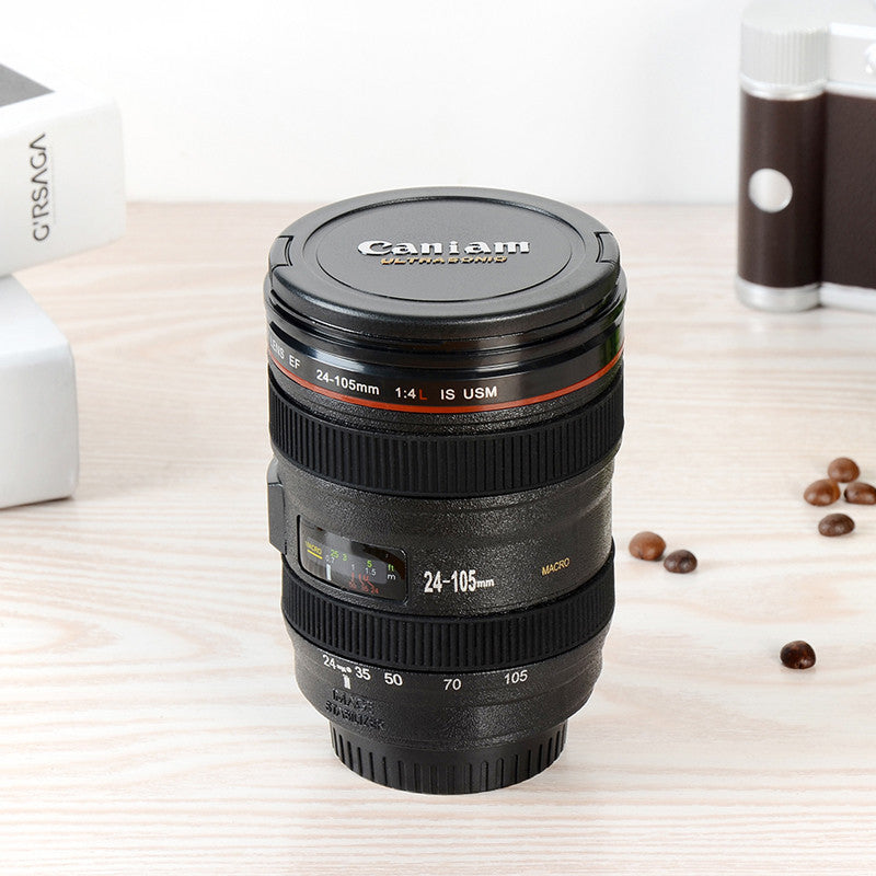 SLR Camera Lens Coffee & Tea Mug With Lid -400ML - Sunshine & Some Tea