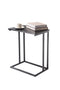 End Table with Sturdy Steel Frame and Accent Table Top, Side Table for Living Room