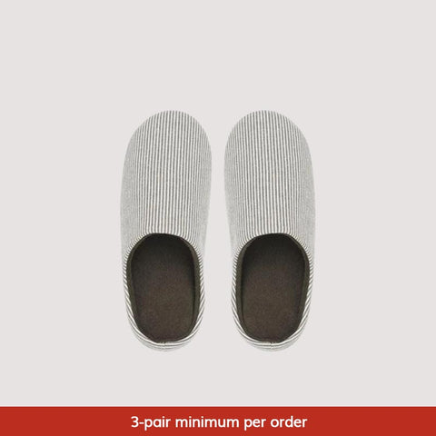 Japanese-Style Home Slippers, Brisk-Striped [Minimum 3-Pair Per Order]