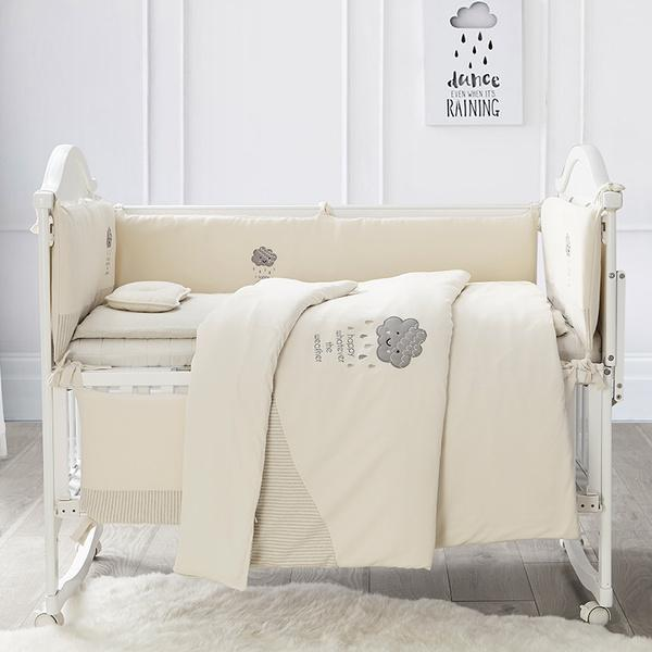 100% Cotton with Natural Colored Cotton Baby Crib Bedding Set of 14 Pieces Baby Care LIFEASE