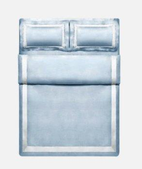 "100-Thread-Count 100% Cotton 4-Piece Simple and Elegant Style Bed Set Home & kitchen LIFEASE Blue King (Fit comforter: 87""x94.4"")"