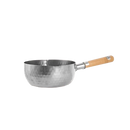 "[Made In Japan] Traditional Japanese Yukihira Saucepan Stainless Steel Cooking Pot w/ Wooden Handle - 8"" One/Set of Two"