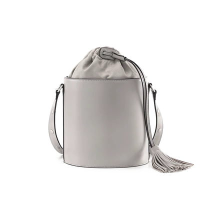 Women's Bucket-Style Shoulder Bag with Drawstring