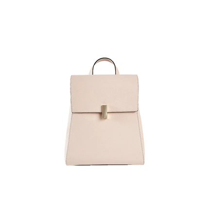 Women's Leather Backpack with Square Lock