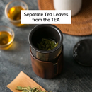 Glass Tea Tumbler with Wooden Sleeve 13 oz