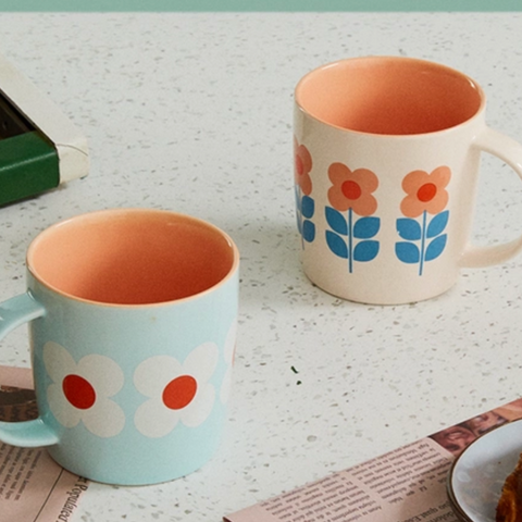 【Use code:MEMORIAL28, Buy 2 Get 20% off】Garden Series Pair Mug - 350ml