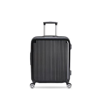 20-inch Pure PC Zipper Luggage(外部仓) Sports & Travel LIFEASE Black
