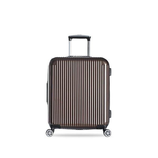 20-inch Pure PC Zipper Luggage(外部仓) Sports & Travel LIFEASE Brown