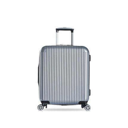 20-inch Pure PC Zipper Luggage(外部仓) Sports & Travel LIFEASE Silver