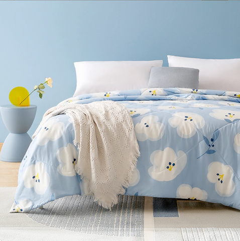 100% Cotton Machine Washable Printed Summer Comforter