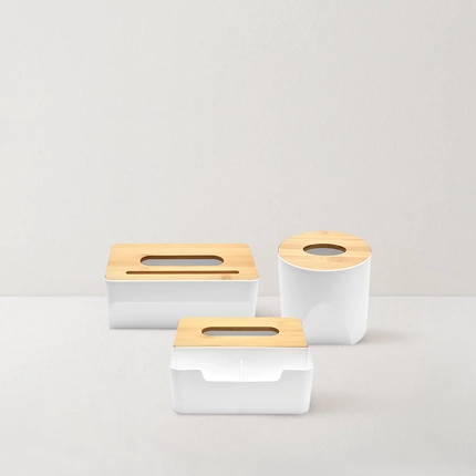 [Minimum 2 Per Order] Bamboo Tissue Box
