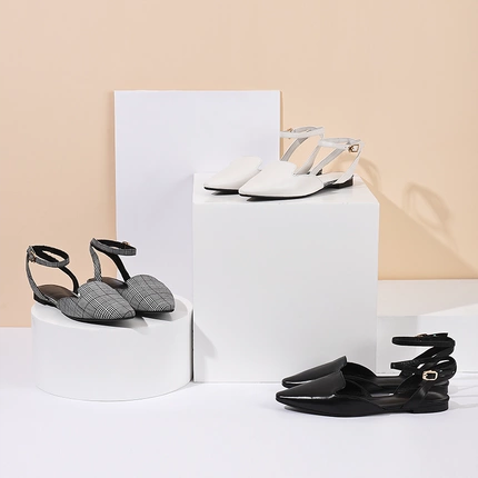 Women's Flat Mules with Straps
